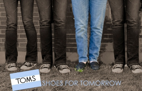 Toms shoes for tomorrow - courtesy of Anita.Marie via flickr