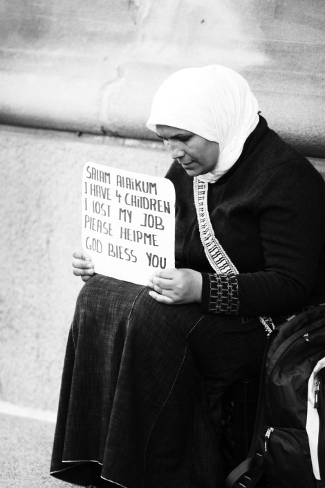 Homeless Woman - Photo by me