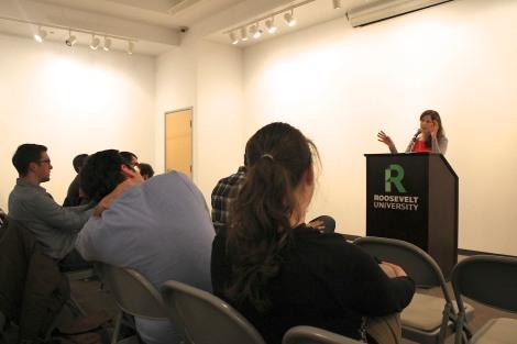 MFA reading shot by Stephanie Khio