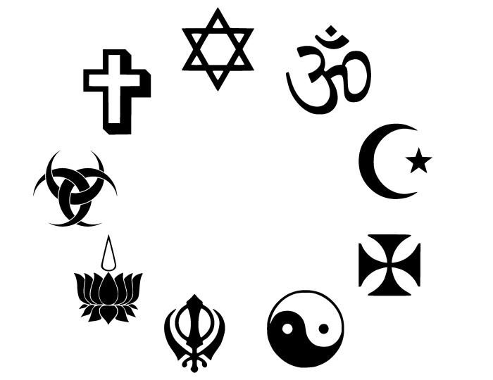 Religious Symbols Graphic