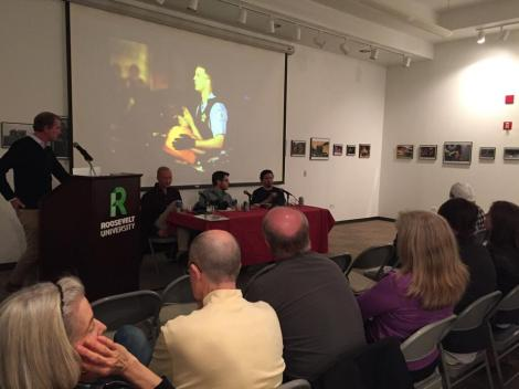 """Chicago Tribune photographers discuss """"Shooting Crime"""" at Gage Gallery"""