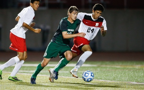 Evan Trychta scored twice for the Lakers in the win against Holy Cross.  Photo courtesy by: Roosevelt University