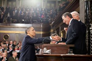 Speaker Boehner greets President Obama following the State of the Union address in 2011.  Photo Credit: Wikimedia Commons