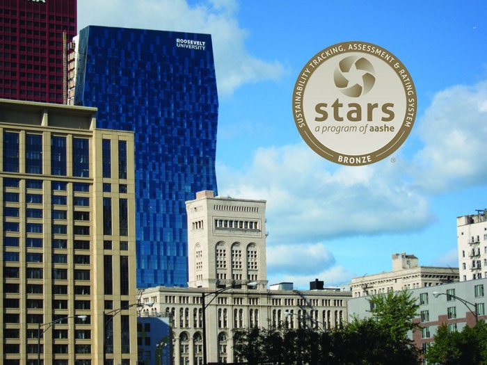 Roosevelt University receives bronze rating for sustainability efforts.tiff