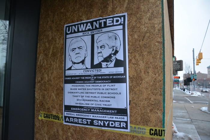 Arrest Gov. Snyder poster