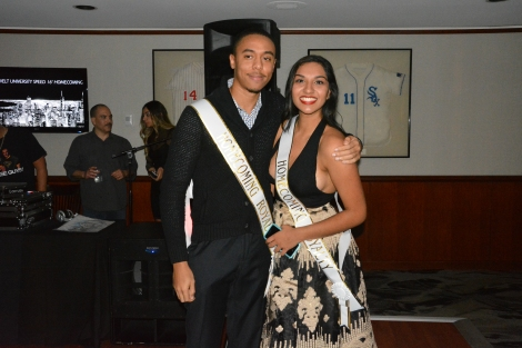 Reema Patel and Mark Allen Jr. were crowned the homecoming court royalty. Photo by Megan Schuller